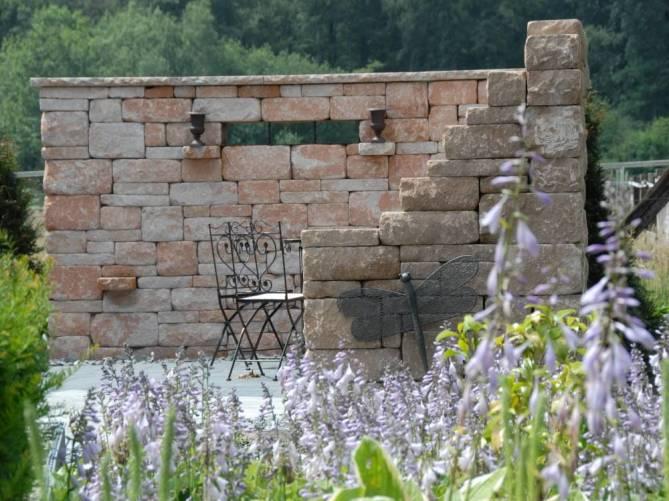 santuro mauer galabau m hler betonmauer gartenmauer. Black Bedroom Furniture Sets. Home Design Ideas