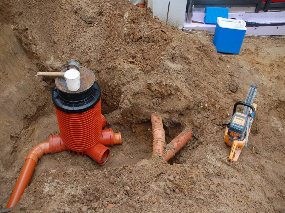 Regenentwässerung wird erstellt