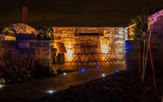 Gartenmauer / Santuromauer beleuchtet