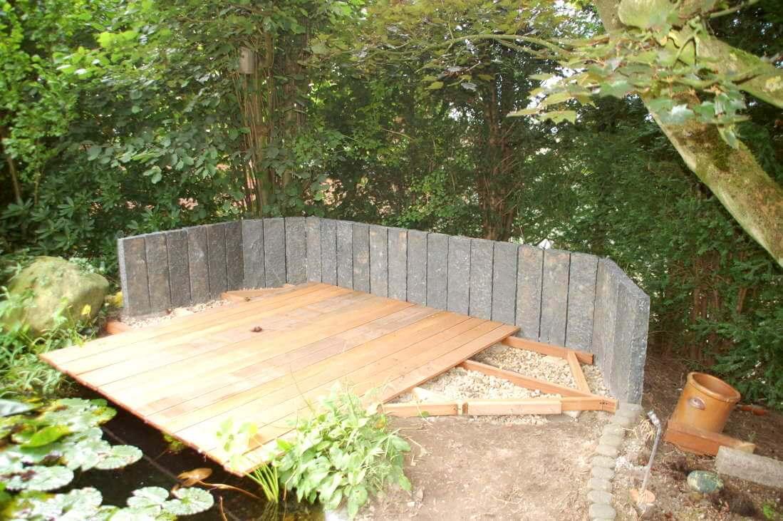 Anlegen einer terrasse reinhardtreinhardt - Wall im garten anlegen ...
