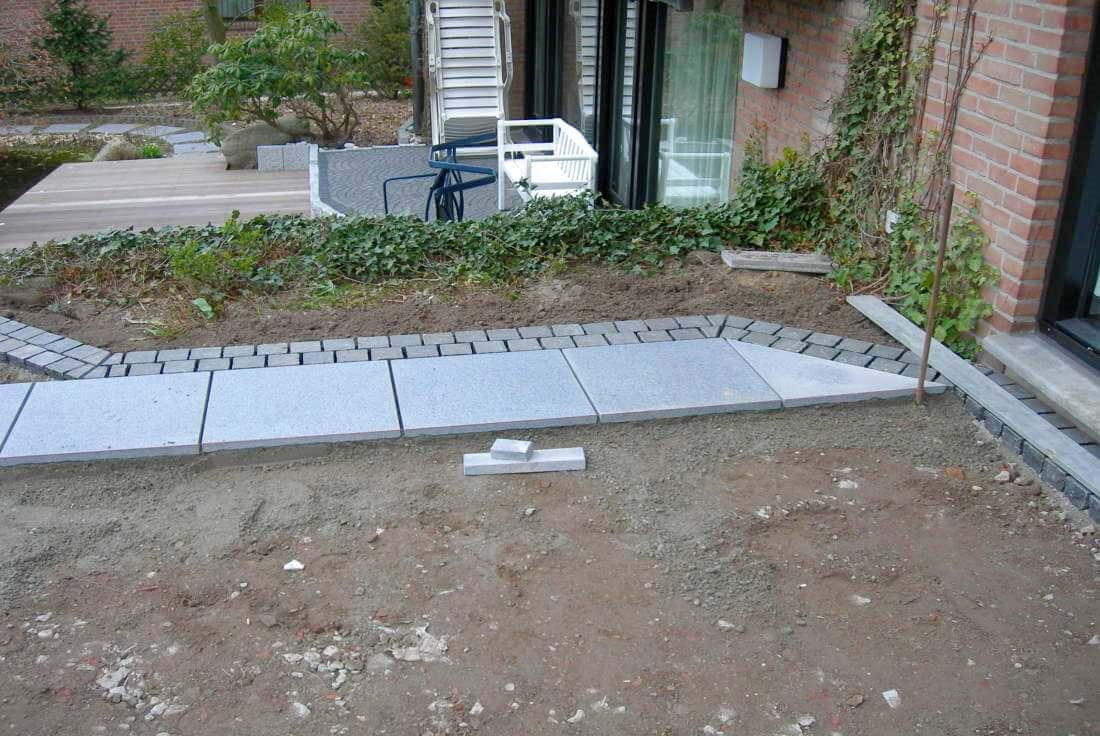 Terrassengestaltung mit Granitplatten