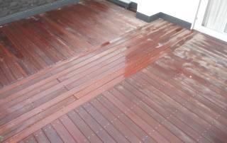Dachterrasse aus Hartholz Afri-Kulu