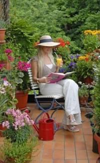 Themengarten Sitzplatz im Garten