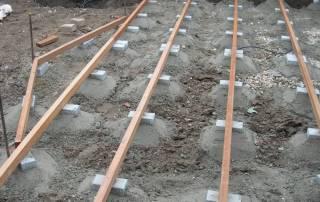 Unterkonstruktion einer Holzterrasse