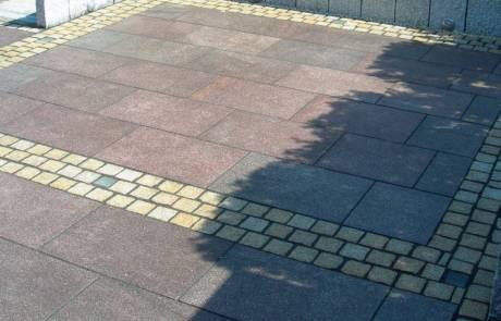 Terrasse aus Minerva Granit und Bänderung