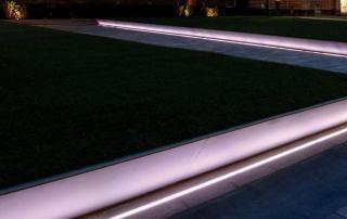 Lichtlinien für den Garten