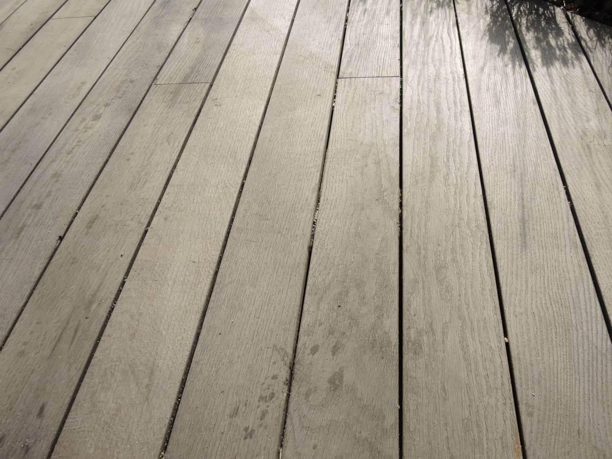 Thermoholz Eiche mit vergrauter Optik