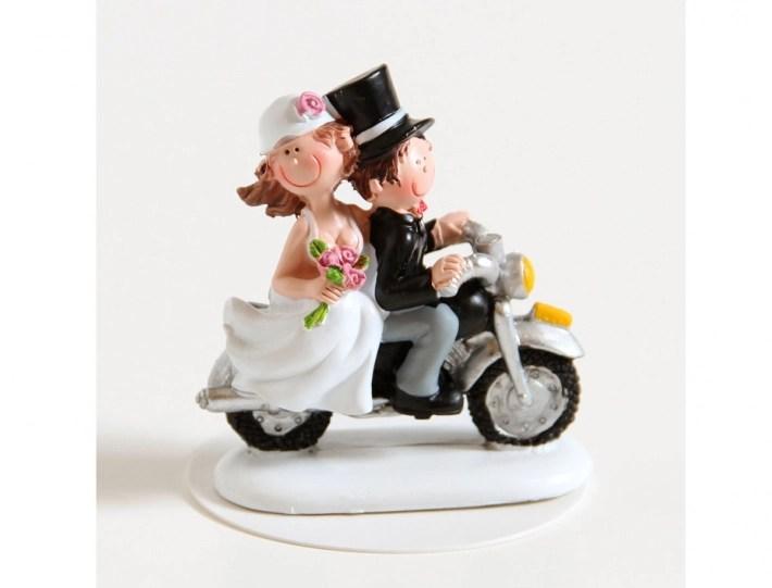 Motorrad Paar  Hochzeitfiguren Versand  Online Shop