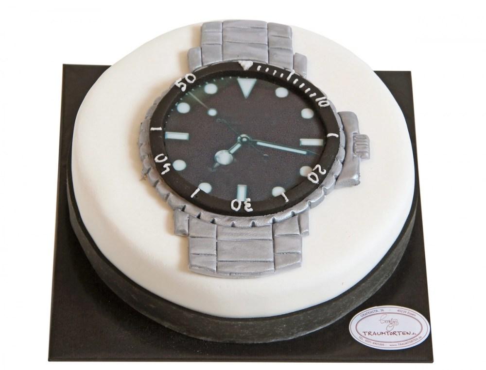 Uhren Torte  Geburtstagstorte Geburtstagskuchen online bestellen  TraumTortende