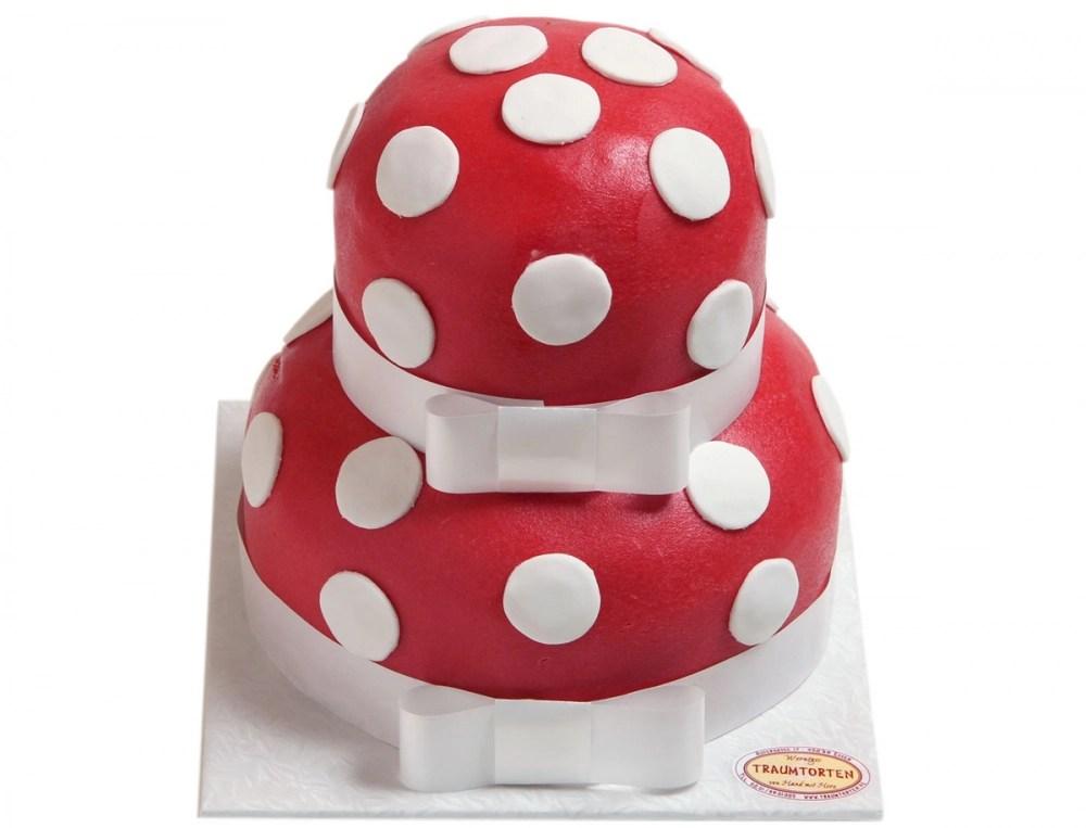 Gepunktete Torte  Hochzeitstorte online bestellen