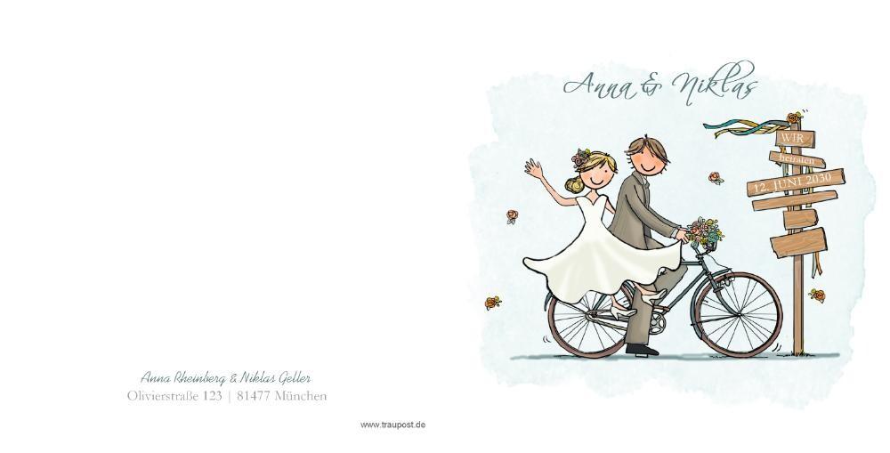 Hochzeit Einladung Brautpaar  Hipopco