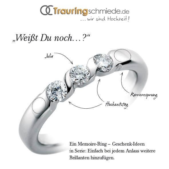 Memoire Ringe  Diamantringe fr unvergessliche Momente
