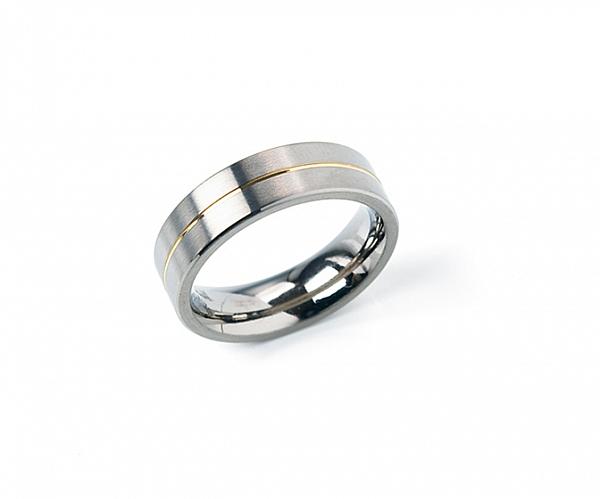 Boccia Ring Titan Goldplattiert 4522