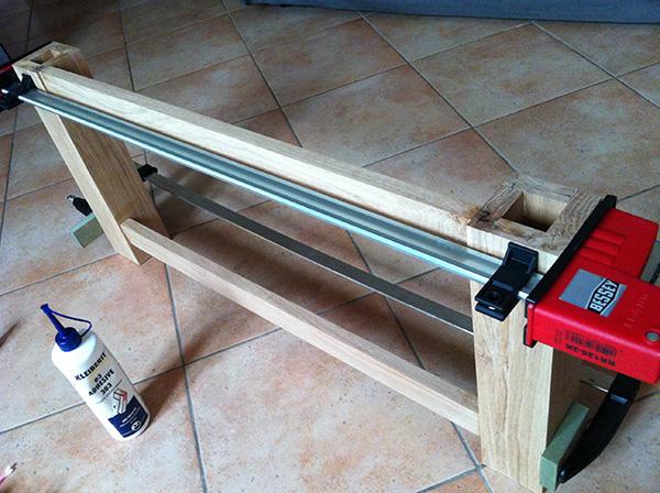 Travailler le bois table chêne Bessey
