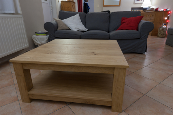 Travailler le bois table chêne