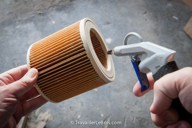 compresseur d'air atelier nettoyer filtre aspirateur