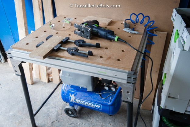 compresseur atelier travail bois