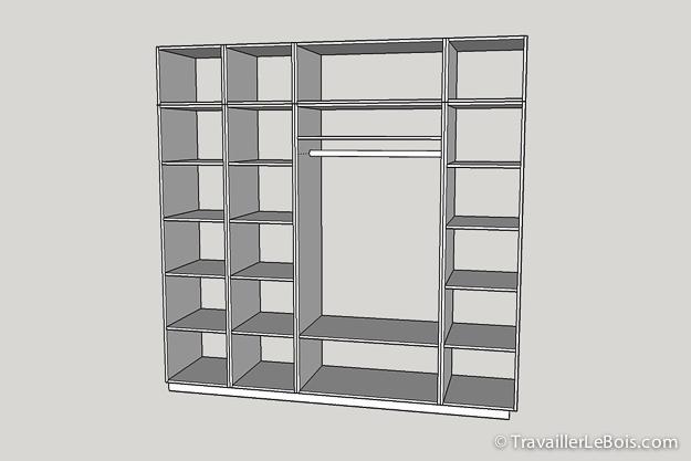 fabriquer un placard avec sketchup