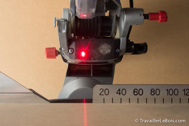 réglage du laser de la scie à onglet metabo kgs 216 m | travailler