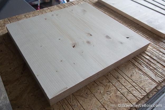 Panneaux de bois en sapin lamellé collé