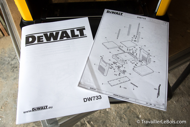 Raboteuse DeWALT DW733