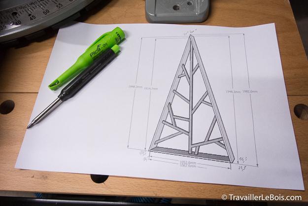 Un sapin de no l design en bois - Comment faire un sapin en bois ...