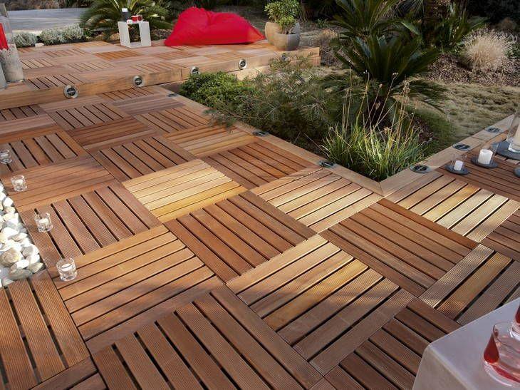 terrasse en dalle de bois leroy merlin