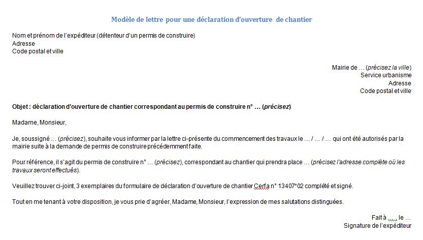 Information Des Voisins Pour Des Travaux Modèle De Lettre