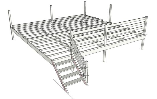 plan de terrasse en bois