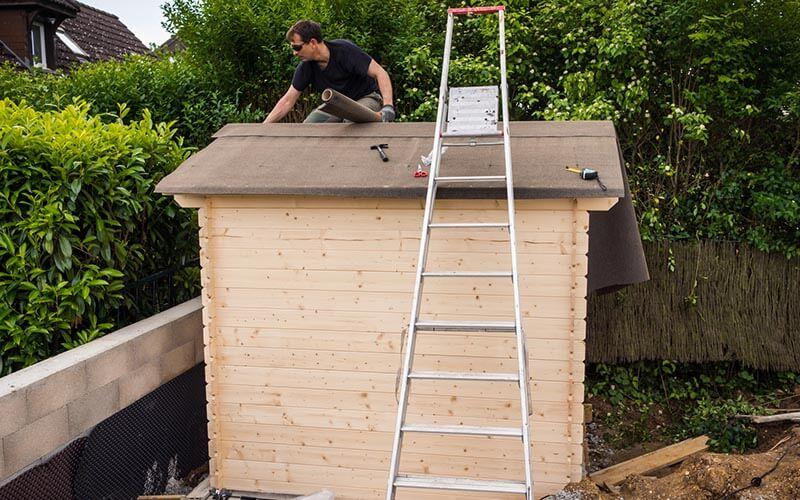 de toiture pour l abri de jardin
