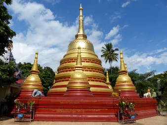 Golden stupa in a temple in Kengtung