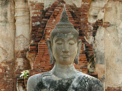 Buddha statue in Ayutthaya's temples
