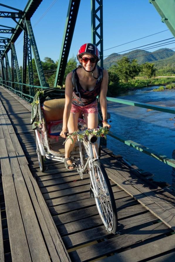 Maria on the Pai Freedom Bridge