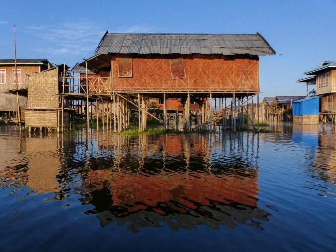 Stilt houses on Inle Lake