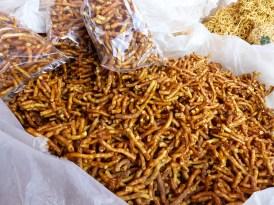 Burmese snacks on Nanpan market in the south of Inle Lake
