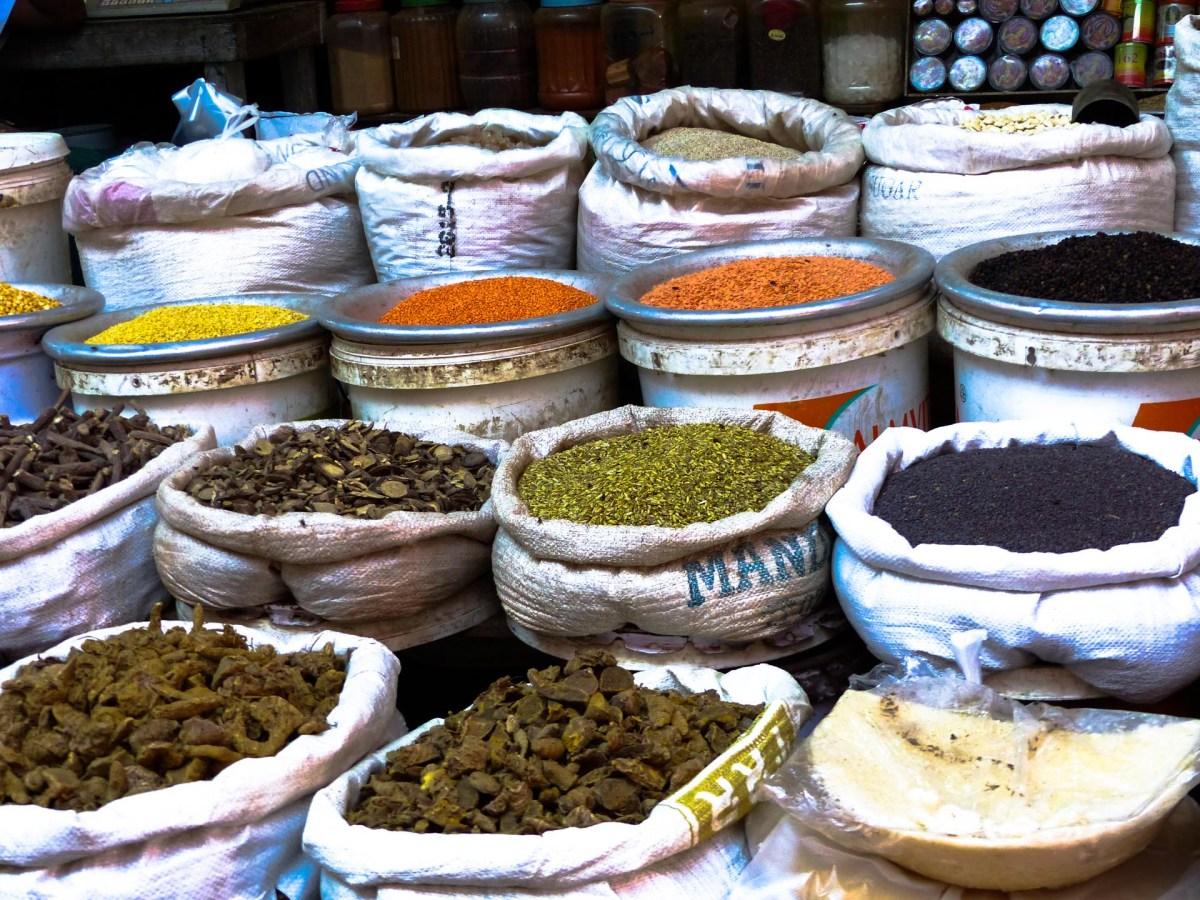 Spices on Zeigyi Market in Mawlamyine
