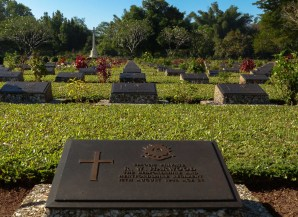 "War memorial at the western terminus of the ""Death Railway"" in Thanbyuzayat"