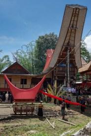 Tana Toraja Funeral Ceremony - preparation of coffin transportation Christian Jansen & Maria Düerkop