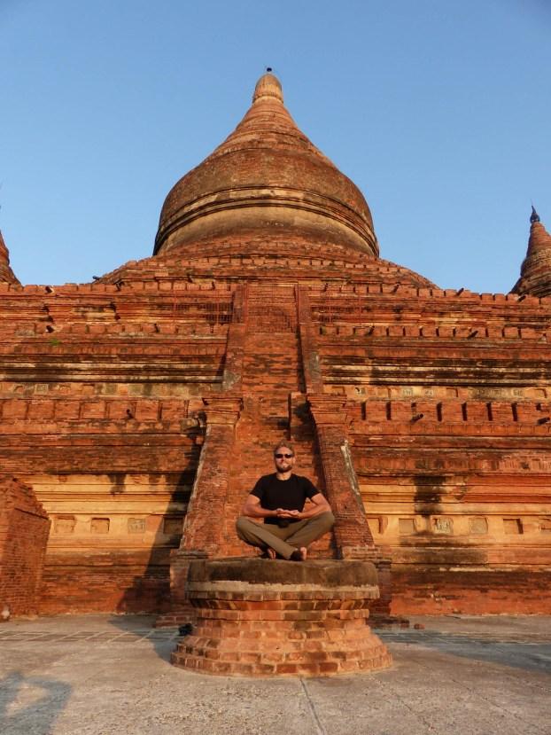 Sitting Buddha at Bagan temple Christian Jansen & Maria Düerkop