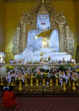 Mandalay - Huge sitting Marble Buddha Christian Jansen & Maria Düerkop
