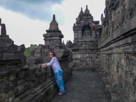 Yogyakarta - Borobodur temples: Wioleta on the outer corridors Christian Jansen & Maria Düerkop