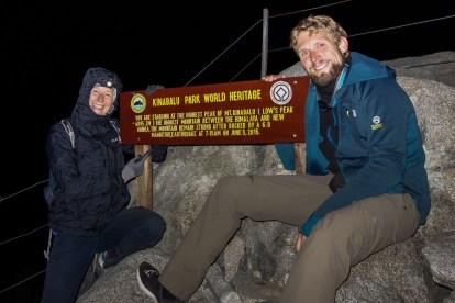 Mount Kinabalu - At Lows Peak on 4095m Christian Jansen & Maria Düerkop