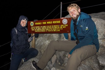 Mount Kinabalu - At Lows Peak on 4095m Christian Jansen & Maria Düerkop