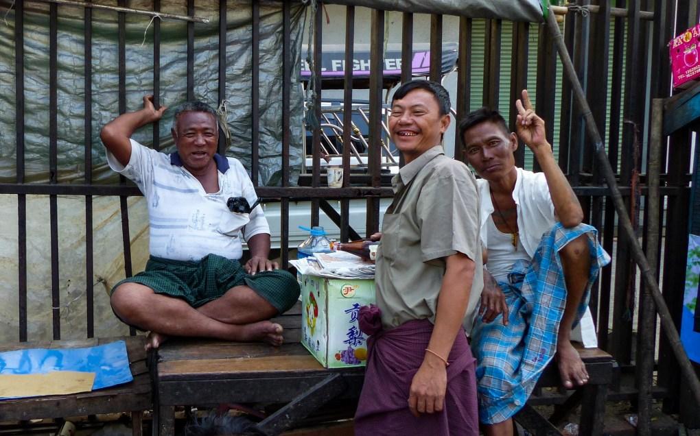 Yangon - Friendly welcome smiles Christian Jansen & Maria Düerkop