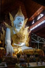 Yangon - Beautiful sitting Buddha. Also huge. Christian Jansen & Maria Düerkop