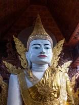 Yangon - Portrait of sitting Buddha Christian Jansen & Maria Düerkop