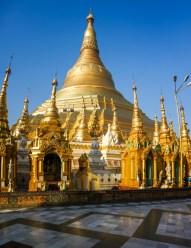 Yangon - Golden Shwedagon pagoda in the sun Christian Jansen & Maria Düerkop