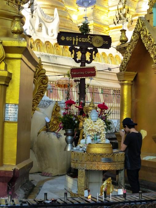 Yangon - Saturday birthday shrine at Shwedagon pagoda Christian Jansen & Maria Düerkop