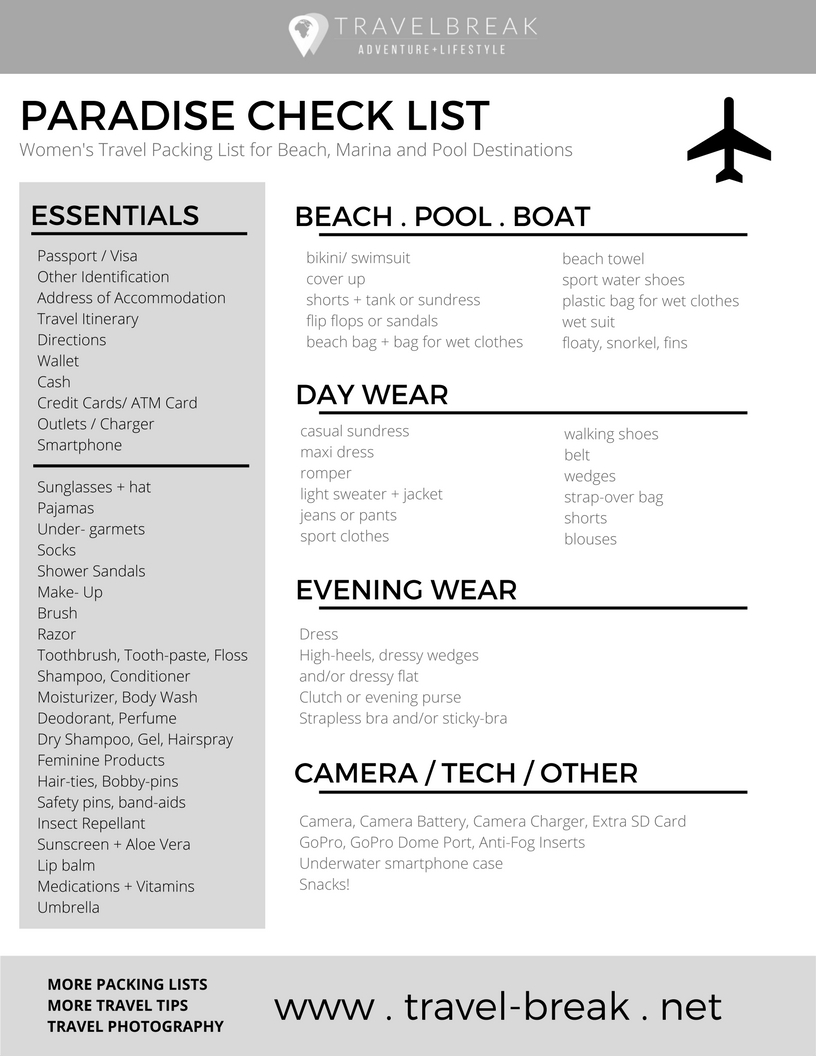 Women S Beach Packing List Planning Guide Travelbreak