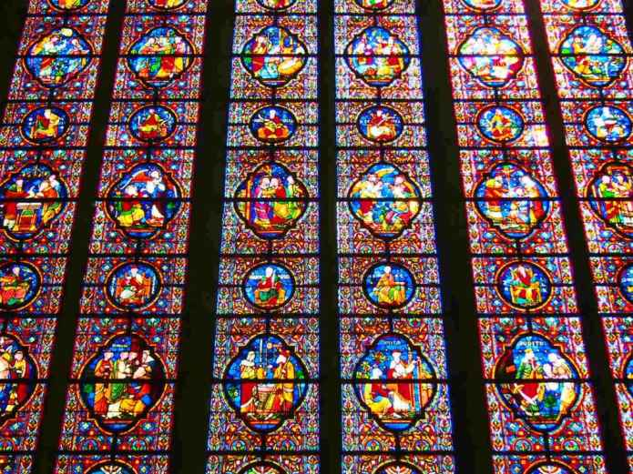 Stained Glass in the Church of Notre-Dame in Dinant